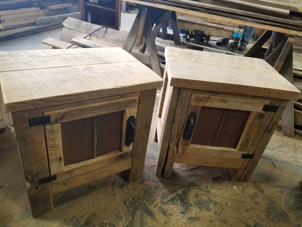 Wholesale End Tables Made From Reclaimed Lumber