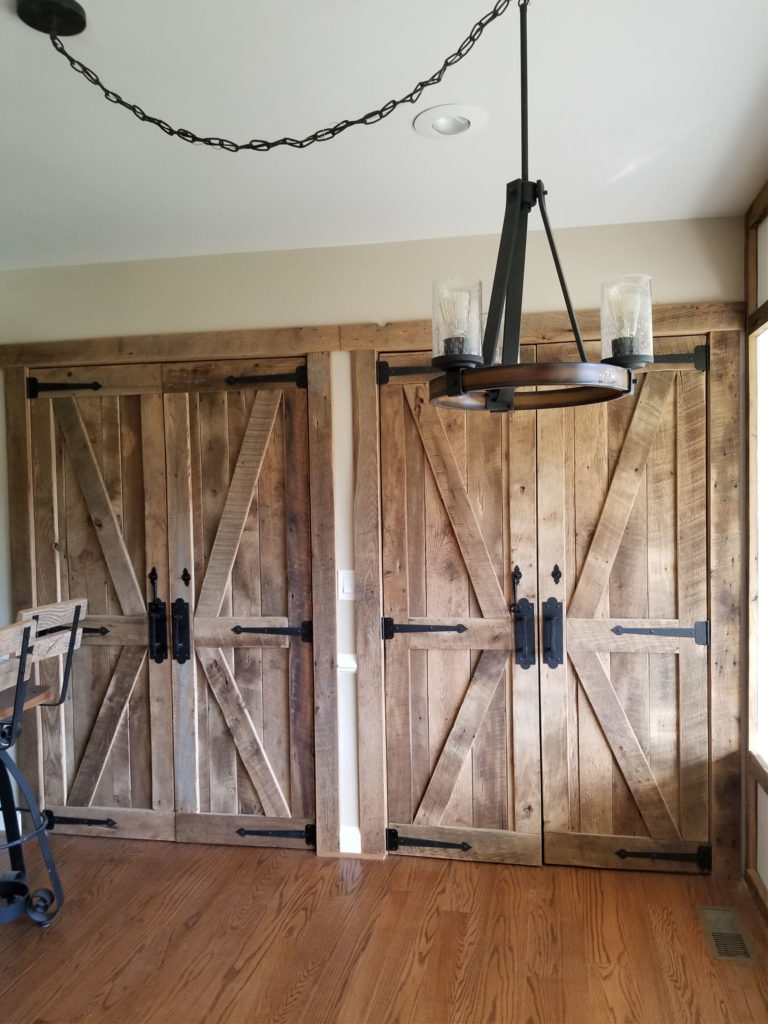 Barn Doors Made Of Reclaimed Lumber