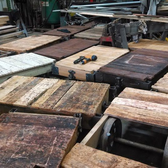 Wholesale Industrial Carts Made of Reclaimed Lumber